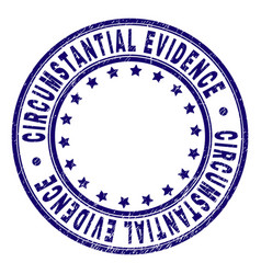 Grunge textured circumstantial evidence round vector