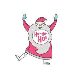 Happy dancing Santa Claus vector