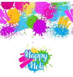 Happy holi colorful seamless pattern grunge vector