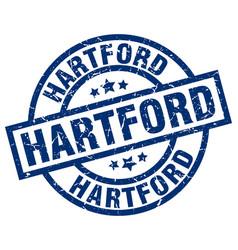 Hartford blue round grunge stamp vector