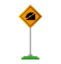 high decline traffic signal vector image