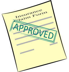 Insurance claim form with stamp approved vector
