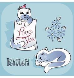 kitten 2 vector image
