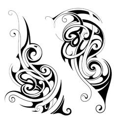Maori style tattoo set vector
