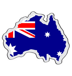 map of australia with its flag vector image