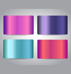 Metallic banners credit cards or gift cards set vector