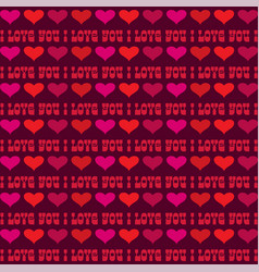 mod valentines day stripe with hearts vector image