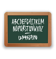 numbers and uppercase letters on green vector image