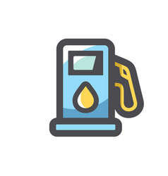 oil gas station equipment icon cartoon vector image