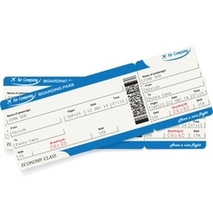 Pattern of two airline boarding pass tickets vector