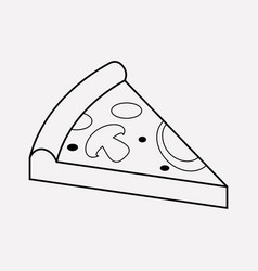 pepperoni icon line element vector image