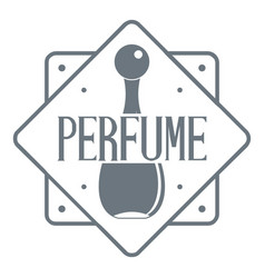 Perfume shop logo vintage style vector