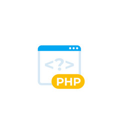 php coding icon flat style vector image