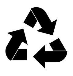Recycling arrows in a circle vector