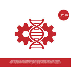 Red gene editing icon isolated on white vector