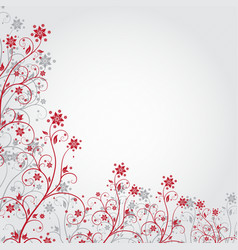 Red grunge flower vector image