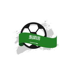 Saudi arabia football club template design vector