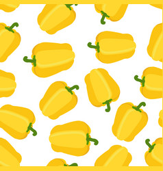 seamless pattern of pepper flat style vector image