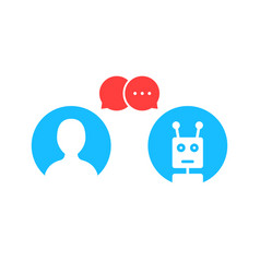 Simple chatbot hotline logo vector