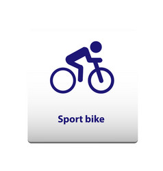 sport bike symbol stickman solid icon vector image
