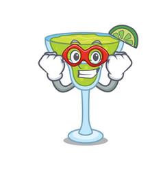 super hero margarita character cartoon style vector image