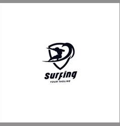 surfing logo design template inspiration vector image