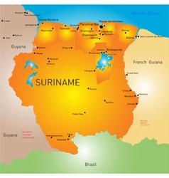 Suriname vector image