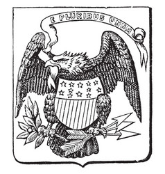 The great seal of the united states 1782 vintage vector