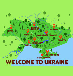 ukraine country infographics vector image