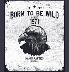 vintage urban typography with eagle vector image
