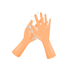Washing hands palm to palm with soap hygiene vector