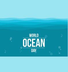World ocean day flat vector