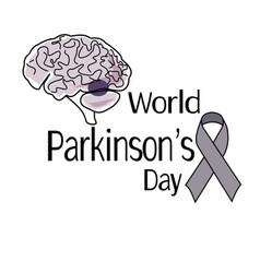 world parkinsons day symbolic sign human vector image