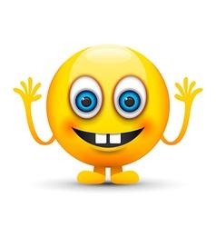 buck teeth emoji character vector image