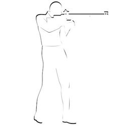 Bullet shooting rifle shooting vector