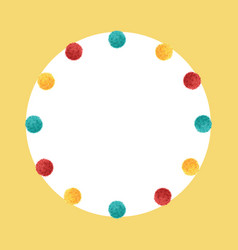 Colorful vibrant birthday party pom poms vector