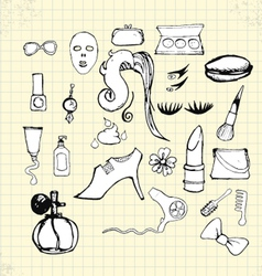 doodle beauty on paper vector image vector image