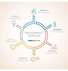 Infographic template color circular vector image