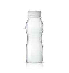 realistic plastic bottle for yogurt vector image vector image