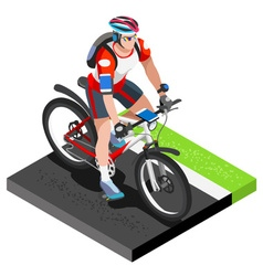 Road Cycling Cyclist Working Out Isometric Image vector image vector image