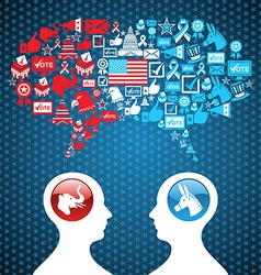 Usa political elections social discussion vector