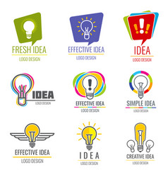 creative idea business logo set vector image vector image