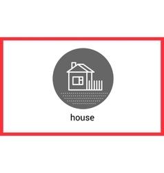 House building contour outline vector image