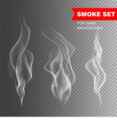 Isolated realistic cigarette smoke vector image