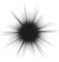Starburst halftone EPS 10 vector image