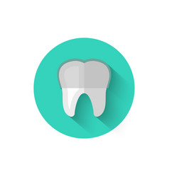 tooth with braces icon isolated in flat design vector image vector image