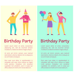 birthday party collection vector image vector image