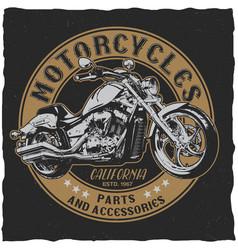 california motorcycles parts poster vector image vector image
