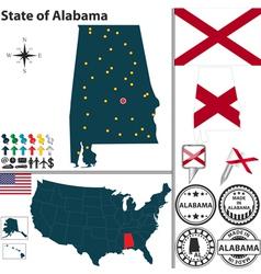Map of Alabama vector image