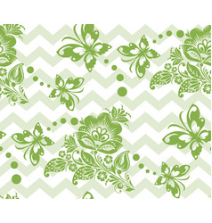 spring russian floral seamless pattern background vector image vector image